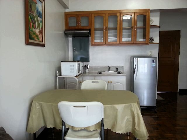 This is the dining area and kitchen.
