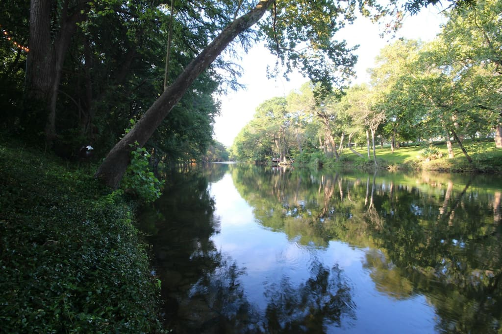 Guadalupe River in Back Yard of Home