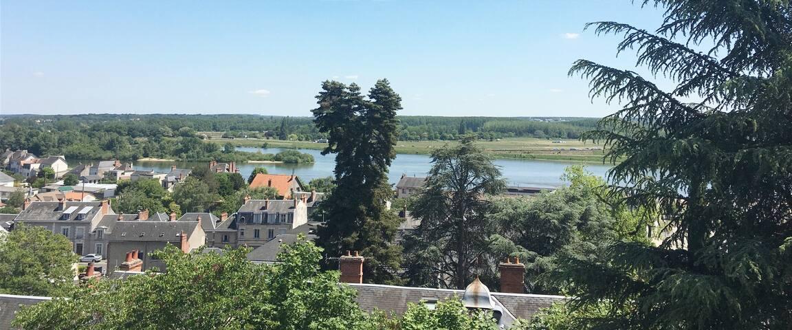 Bel appartement cosy avec vue sur la Loire