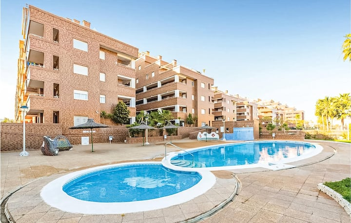 Beautiful apartment in Oropesa del Mar with WiFi, Outdoor swimming pool and 2 Bedrooms