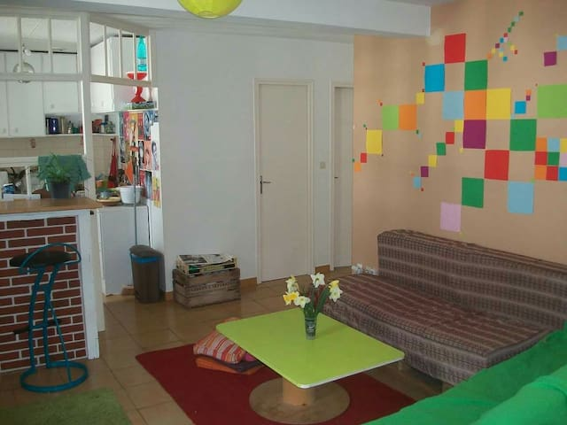 Cosy room on Ile de Nantes