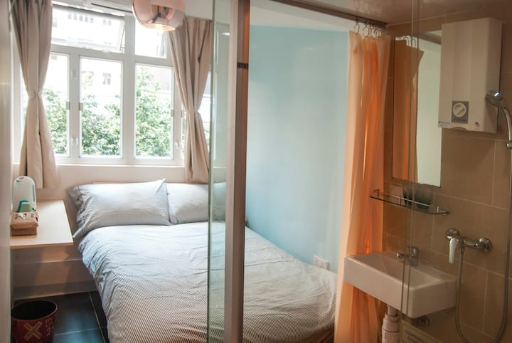 Cozy & Bright Double Bedroom - 3 mins to TST MTR