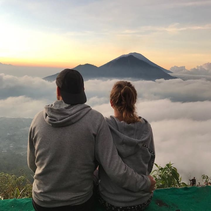 Enjoy the sunrise with your partner