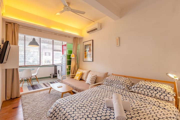 R - Spacious City Studio mins to MRT - Singapore - Apartment