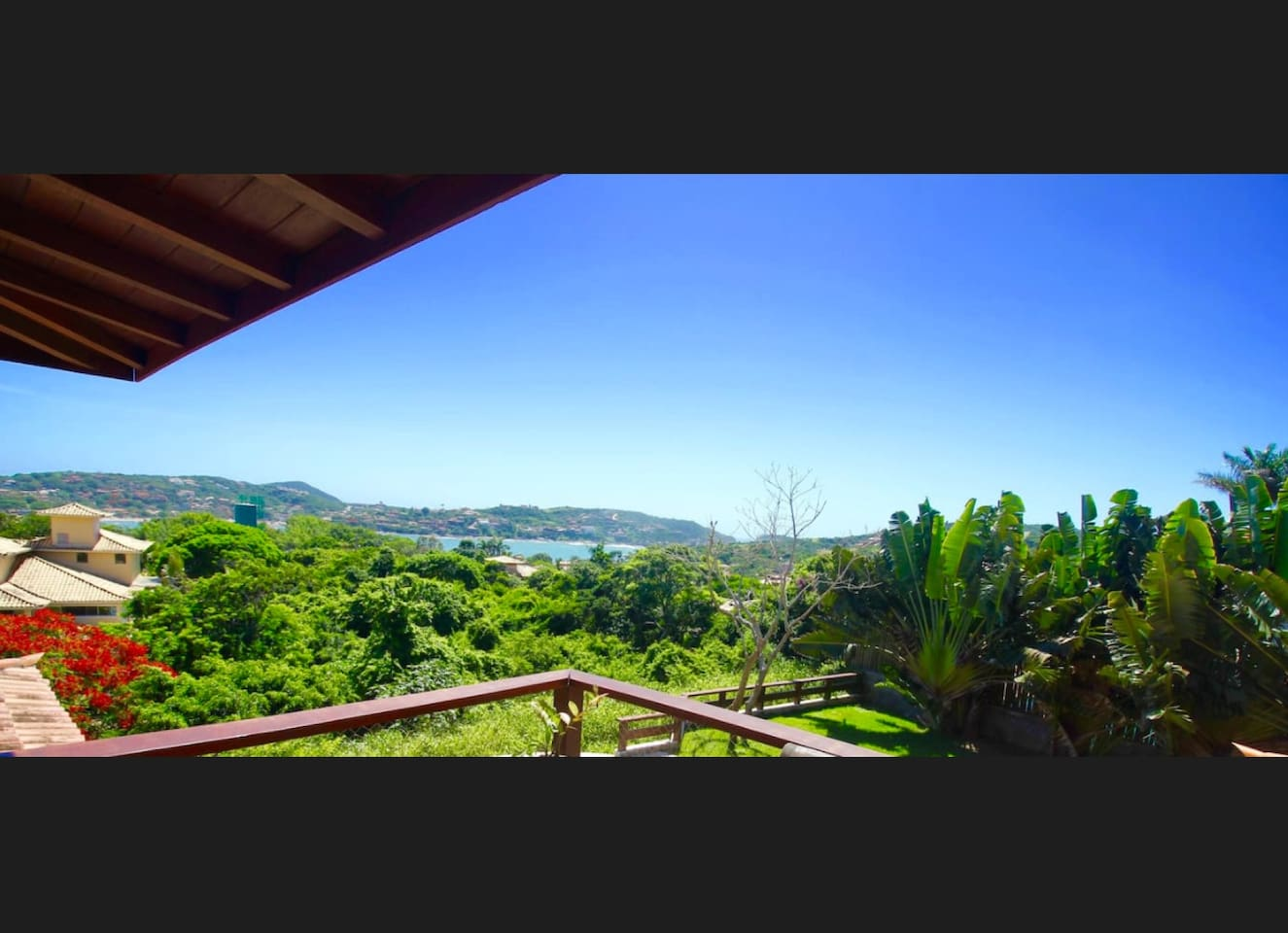 View from the veranda: Ferradura Beach