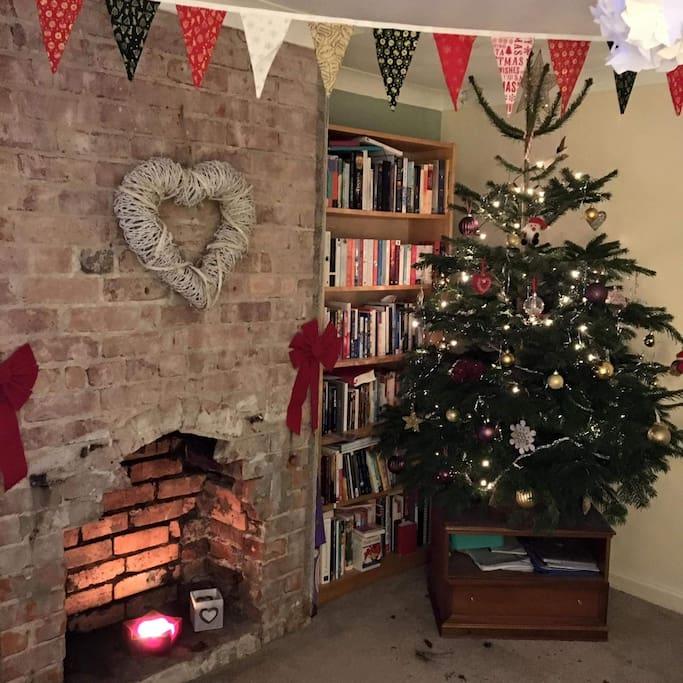 Lounge at Christmas!