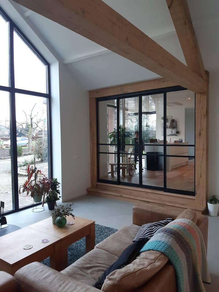 Familiehuis met grote tuin en airco op de Veluwe