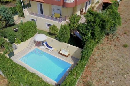 House with priv. pool near Athens airport and port - Villa