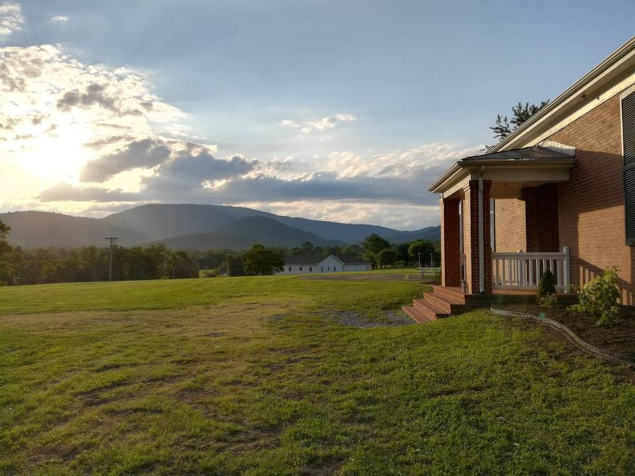 Front porch and the mountains