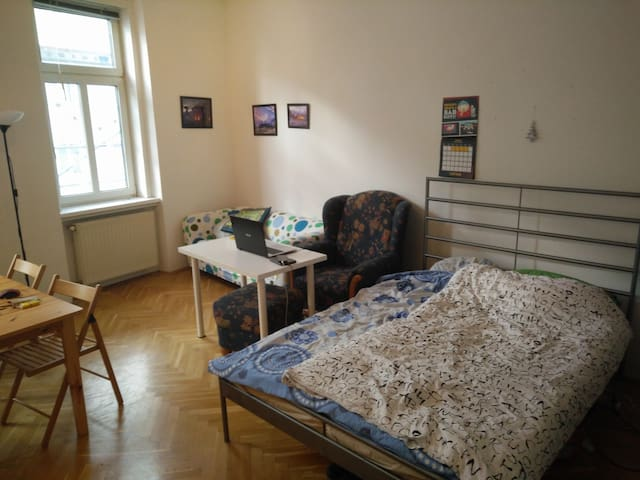 Spacious room with a big dining table - Wien - Huoneisto