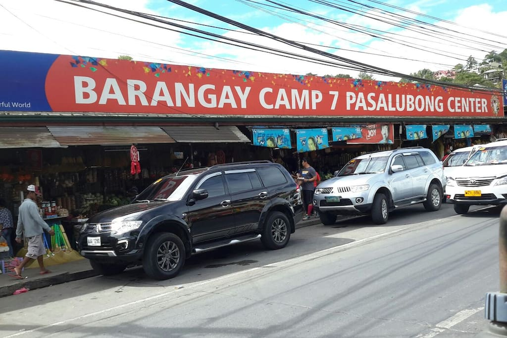 Camp 7 Pasalubong center and satellite market within walking distance from apartment.