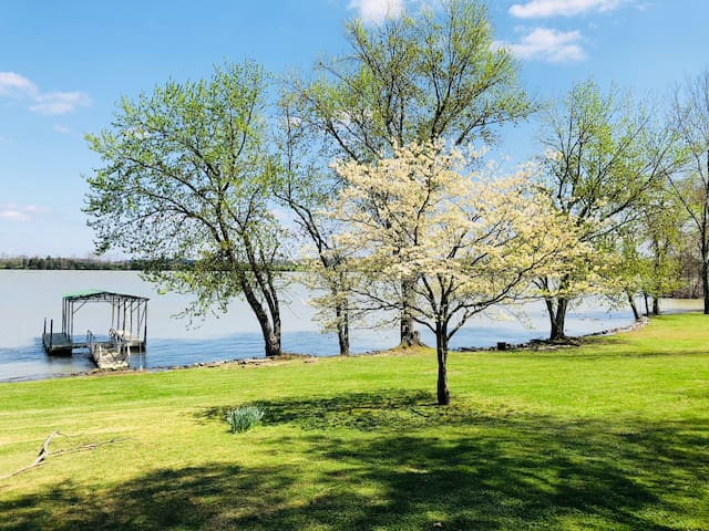 Lakefront Home with Large Yard & Covered Boat Dock