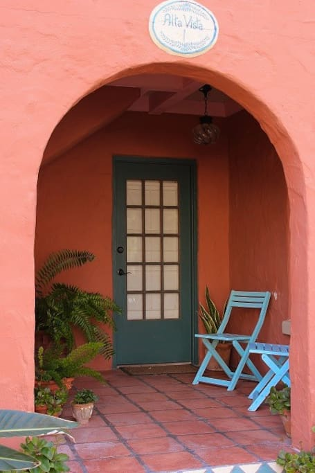 Private front porch