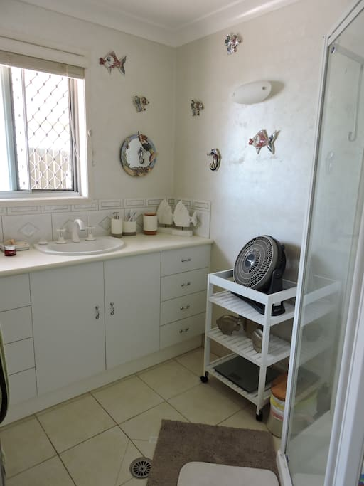 Clean and tidy shared bathroom - good water pressure shower