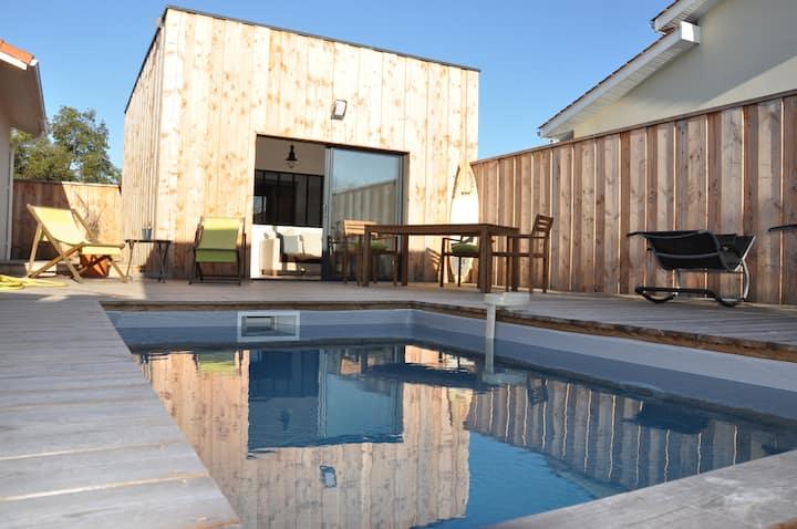 La cabane de la hume avec piscine privée