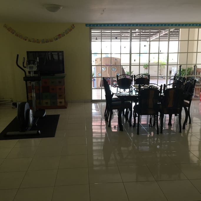 Living dining and tv PLUS excercise machine