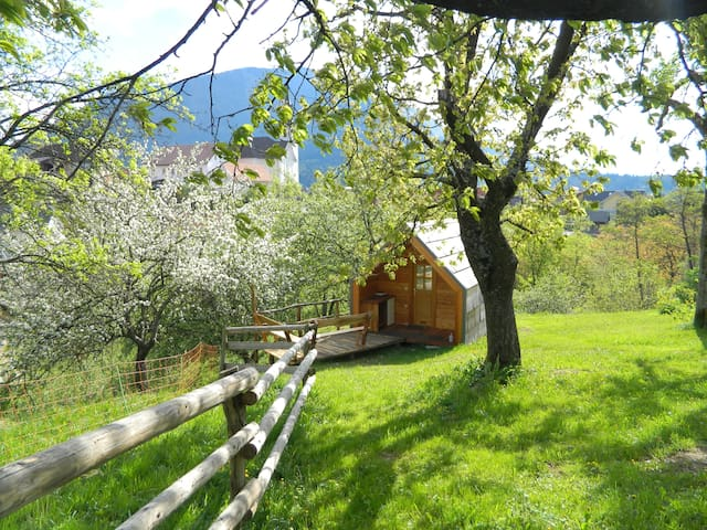 Glamping organic farm Ta Kunstna - Tržič - Blockhütte