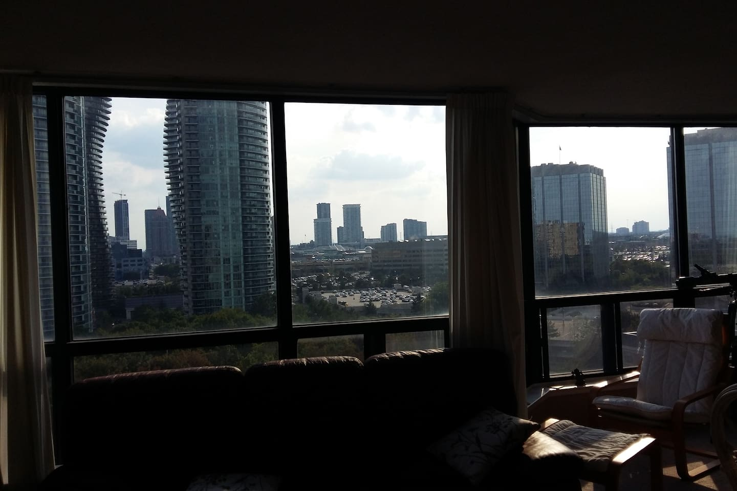 City view from the living room