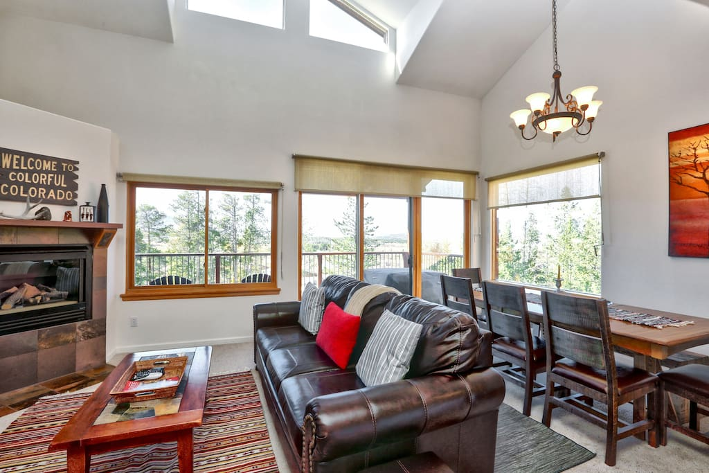 Sliding glass doors lead out to the main balcony, where you'll have access to a gas grill.