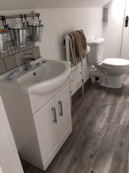Shared shower room and toilet