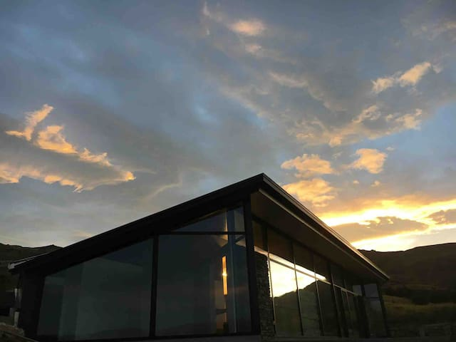 Hawk House at dusk