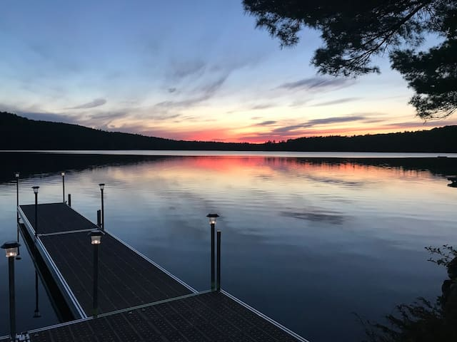 Horn Pond Lake Camp w/Stunning Sunsets