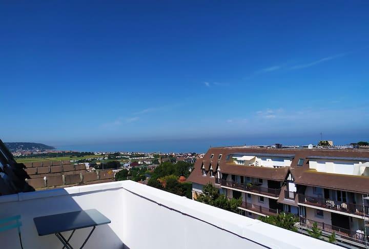 La Terrasse ⭐ Vue mer  2 pers. 35m²