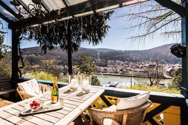 Romantic vintage Villaroom, best castle view, calm - Heidelberg - Huis