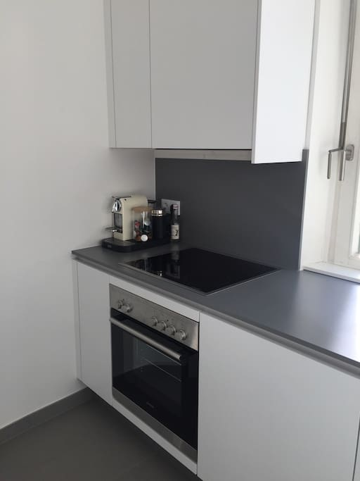 Fully equipped kitchen with window