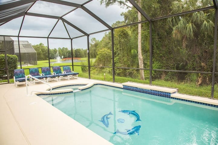 DISNEY AREA 5 BEDROOM PRIVATE POOL HOME