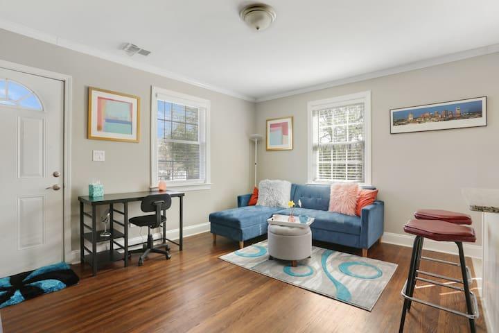 Fun + Spacious  Living Room!