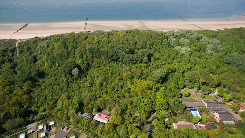 StrandAppartement, onderaan de duinen.