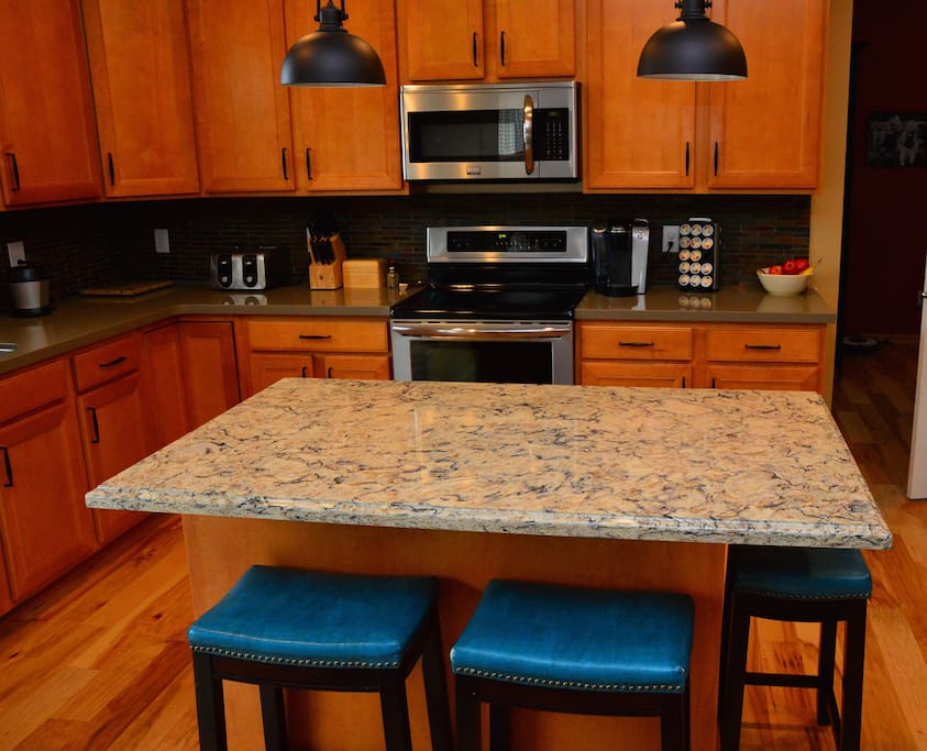 All new Cambria countertops and hardwood flooring.