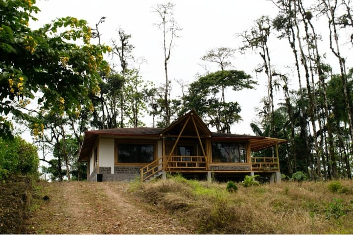 Secluded Bamboo Chalet with Pool Access