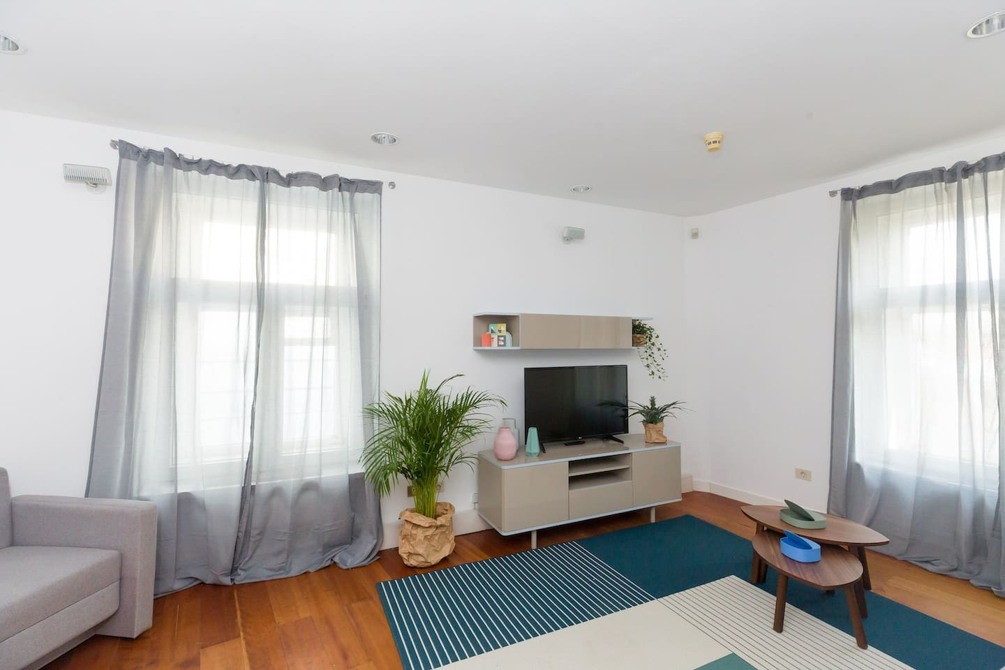 Living room (43 inch TV, sofa double bed and chair bed)