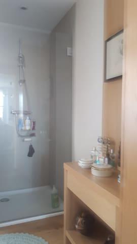 Salle d eau wc partagée.