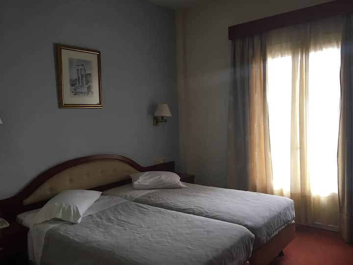 Twin room in the center of Delphi!