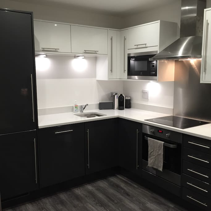 Well appointed kitchen with oven, microwave, fridge/freezer and Nespresso.