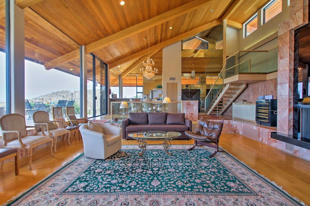 This home is surrounded by the Joshua Tree National Park.