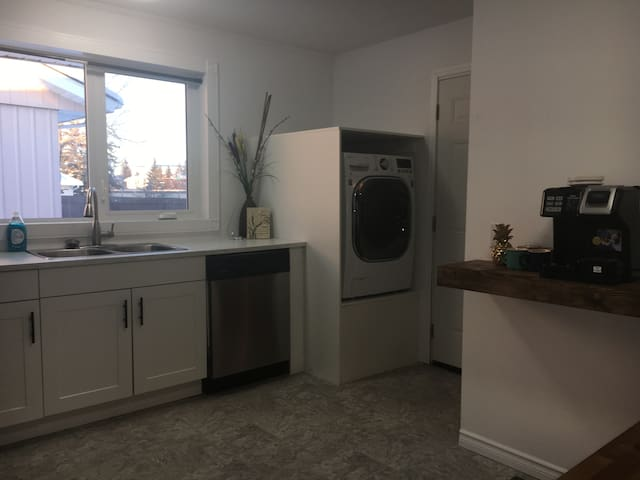 The Kitchen & Combo Washer/Dryer