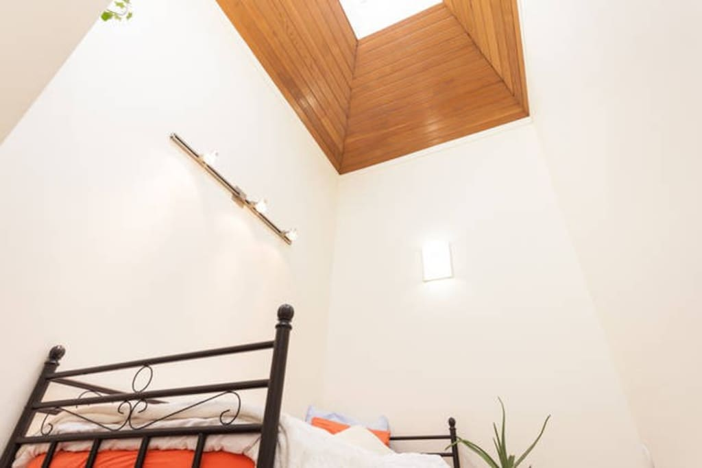 Open ceiling room allows for light, spacious concept during the day and a star-gazing sky by night