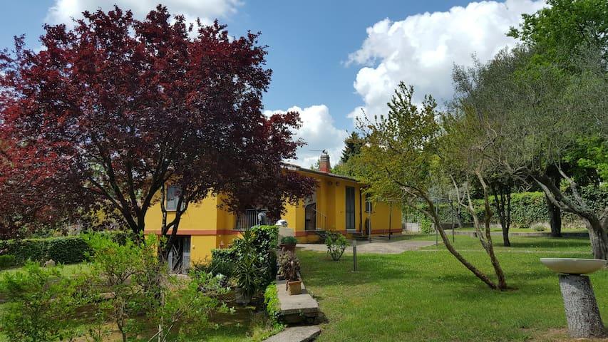 Villa con parco nella campagna romana
