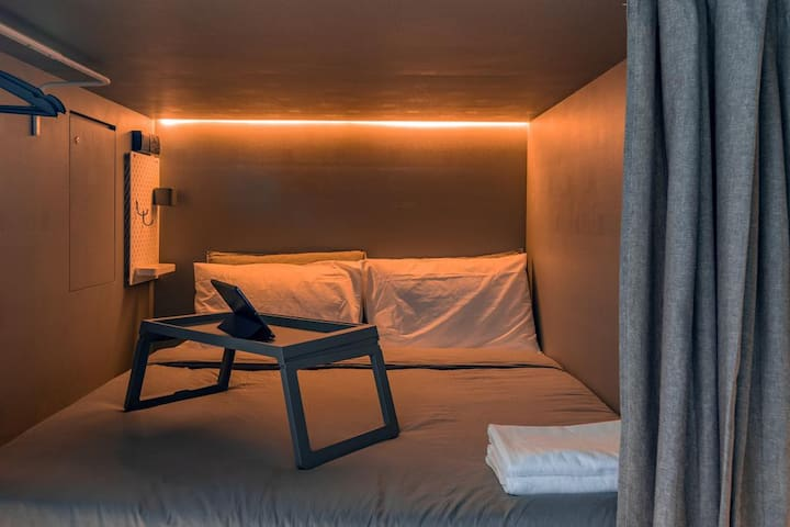 Cool Double Capsule Hostel with All-Day Breakfast