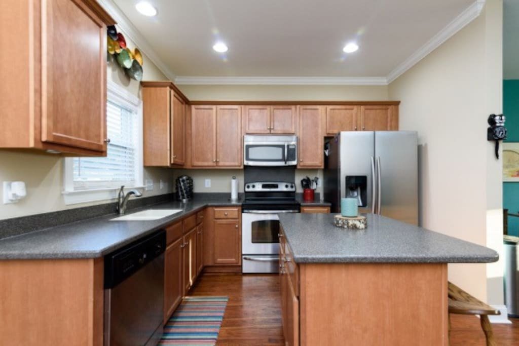 Remodeled, fully stocked kitchen