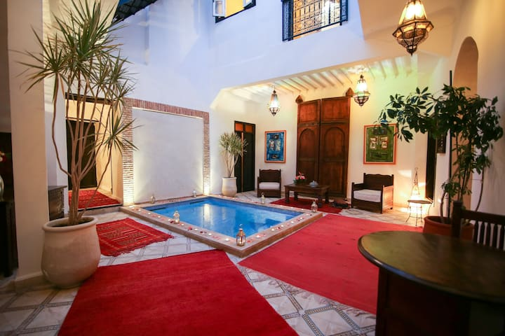 EN EXCLUSIVITE UNIQUEMENT:  RIAD VILLAMOUASSINE - Marrakesh - Huis