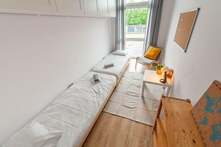 Gdańsk - pokój dwuosobowy w Hostelu