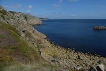 View towards Lamorna from Logan Rock.