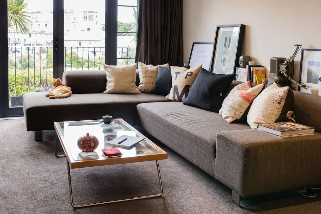 The shared open plan living space on the first floor.