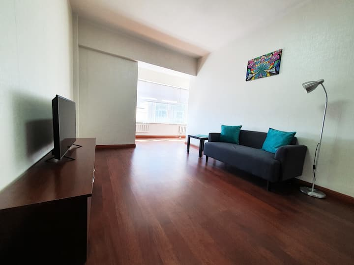 Modern 1-bedroom in the city center