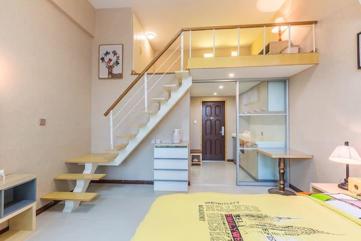 毗邻西溪湿地灵隐精装loft单身公寓 紫庭雅舍北欧风情
